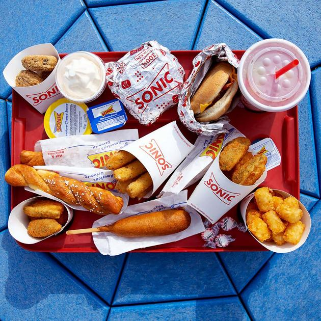 Menu Items From Sonic Drive-In