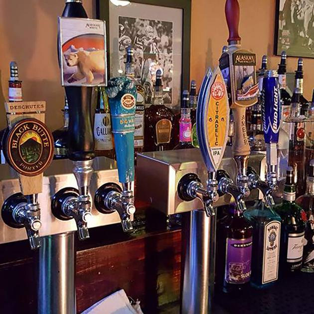 Tap Beer Handles At Teddy's Sports Bar