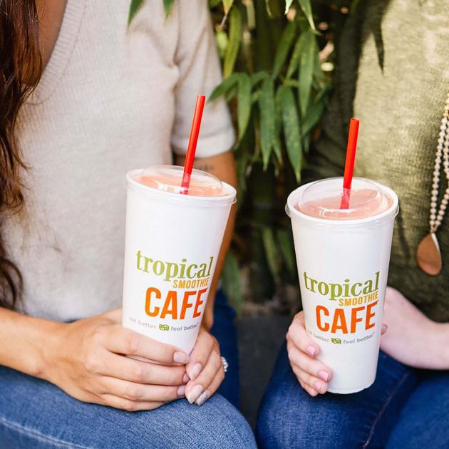Drinking Tropical Smoothie Cafe Smoothies