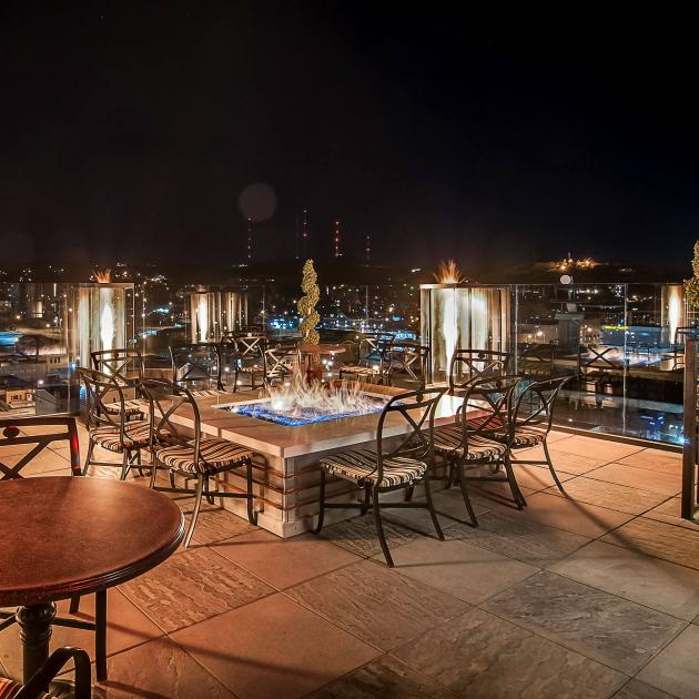 Rooftop Patio At The Vertex Sky Bar