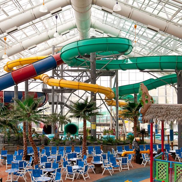 Waterslides Inside Watiki Water Park Rapid City