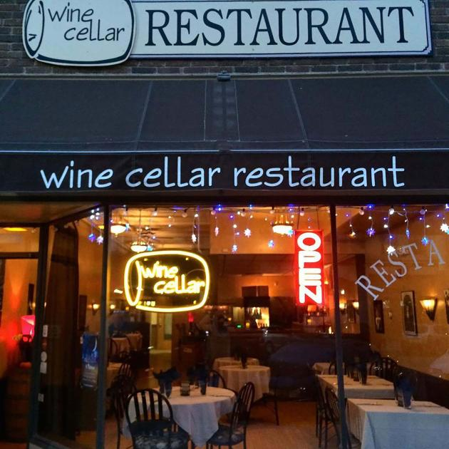 Exterior of the Wine Cellar Restaurant Downtown Rapid City