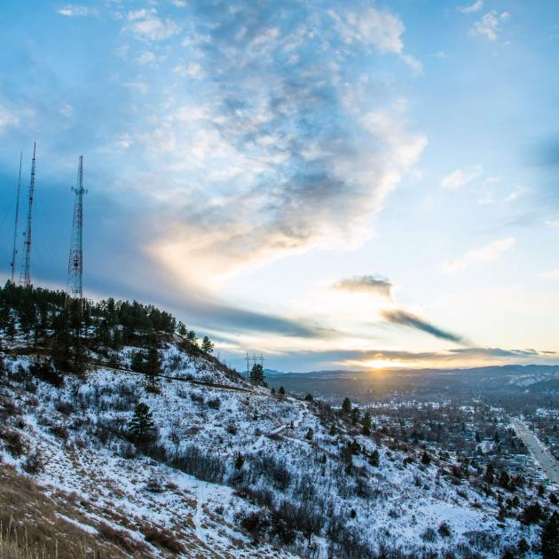Winter views of Rapid City from Skyline Drive