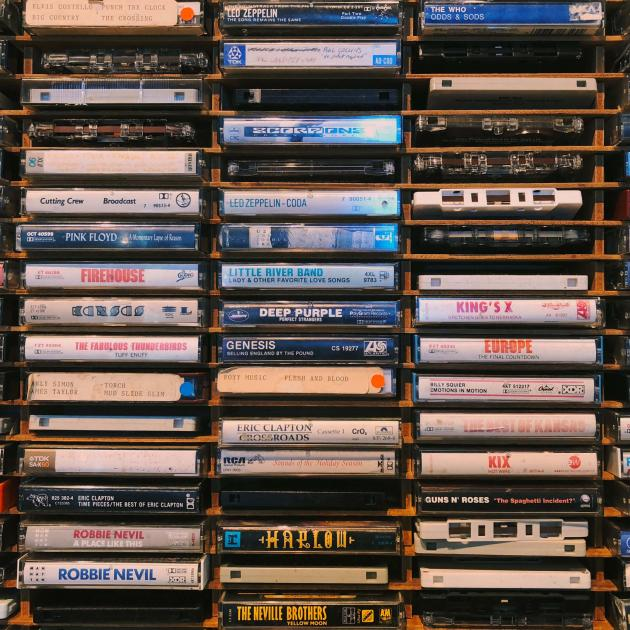 Cassette Tape selection at Black Hills Vinyl