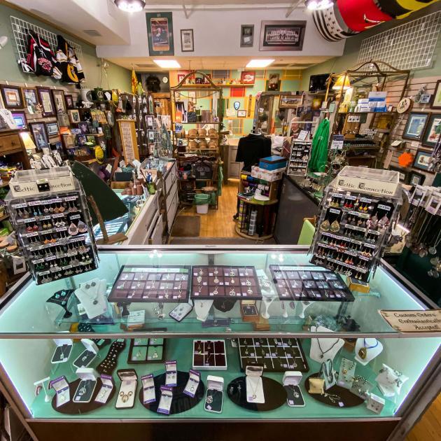Inside Celtic Connections Shop in Rapid City