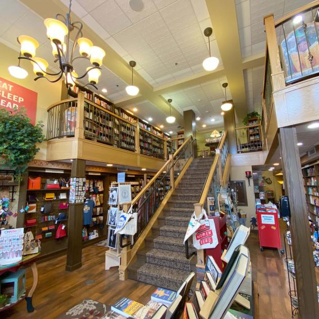 Inside Mitzi's Books in Downtown Rapid