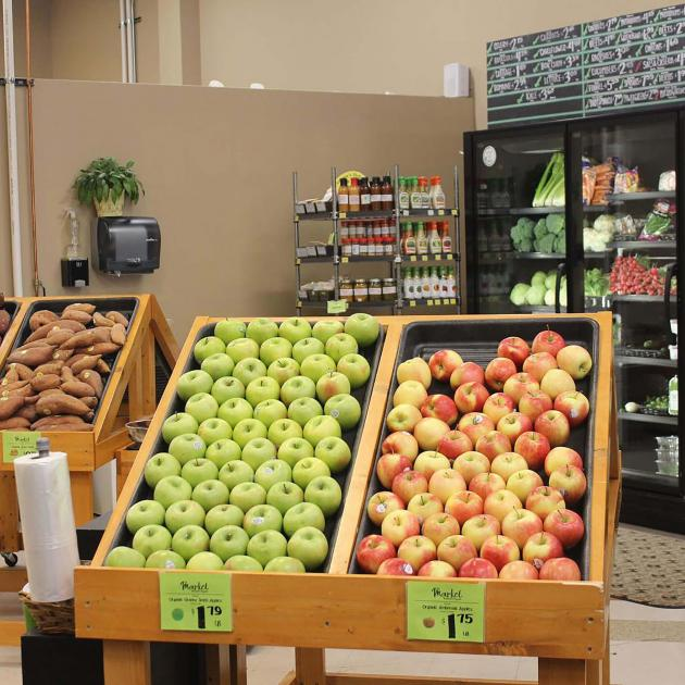 Produce selection at the Market in Tuscany Square in Rapid City, SD