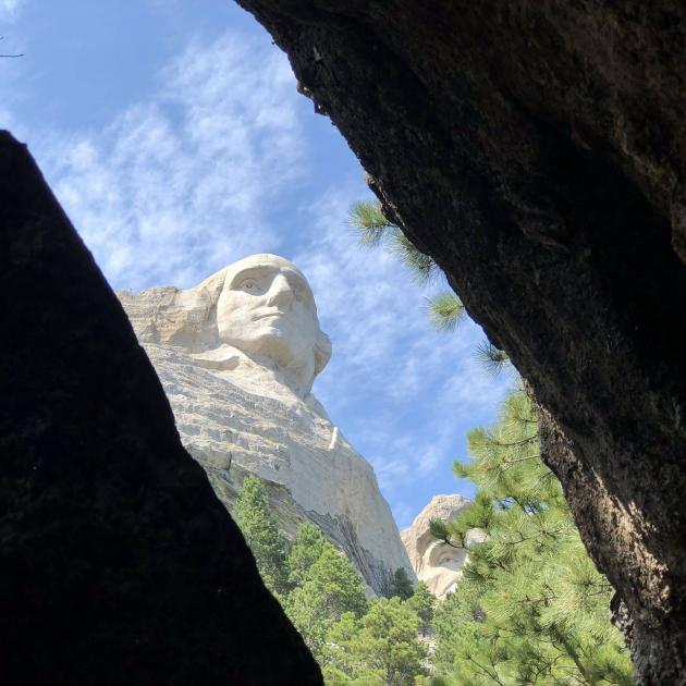 Glimpse of Mount Rushmore from the Presidential Trail
