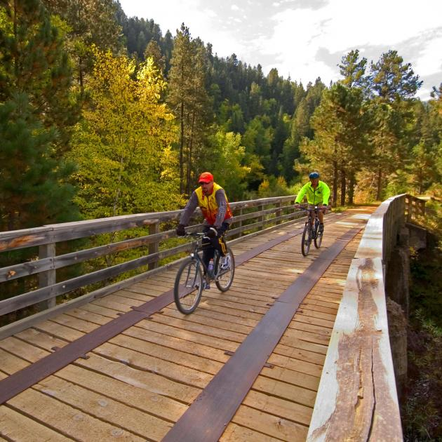 Mickelson Trail Bikers in the Black Hills