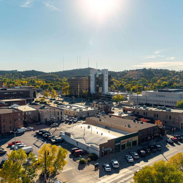 Scenic view of Downtown Rapid City
