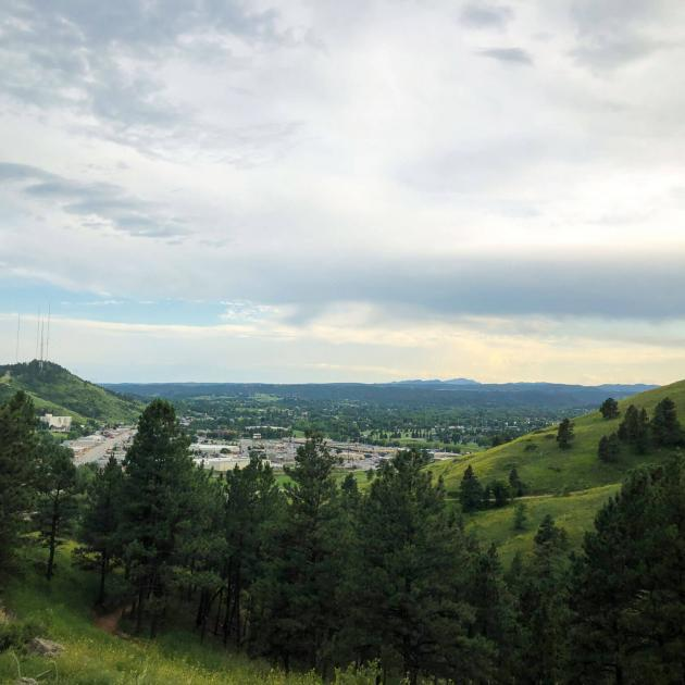 M Hill view of Rapid City, SD