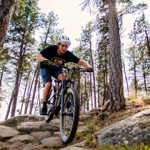 Mountain biking at Hanson-larsen memorial park in rapid city