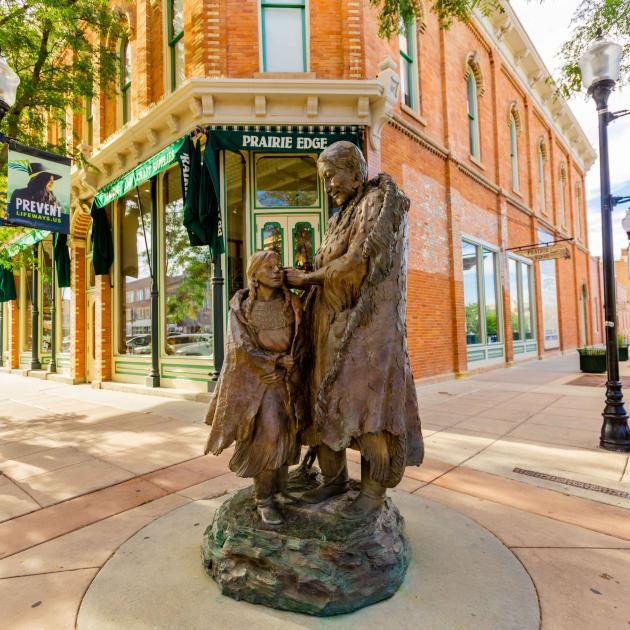 Native American Statue in Downtown Rapid City