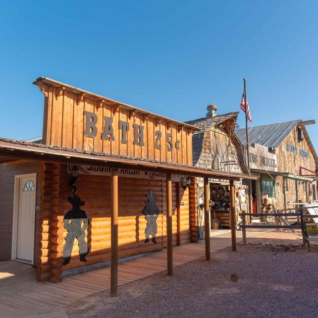 Old historic buildings found at the Fort Hays Chuckwagon