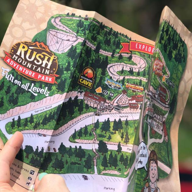 Map of Rush Mountain Adventure Park